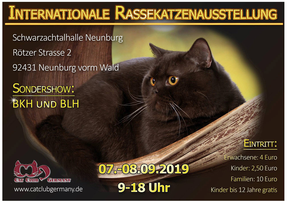 67./68. Internationale Rassekatzenausstellung des CCG