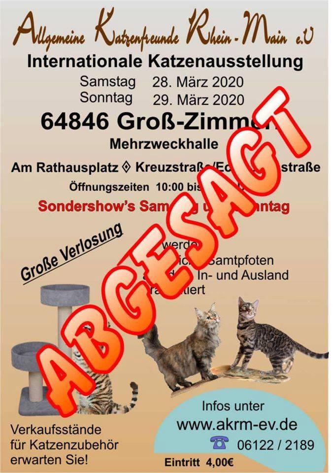Internationale Katzenausstellung vom AKRM e.V - ABGESAGT!