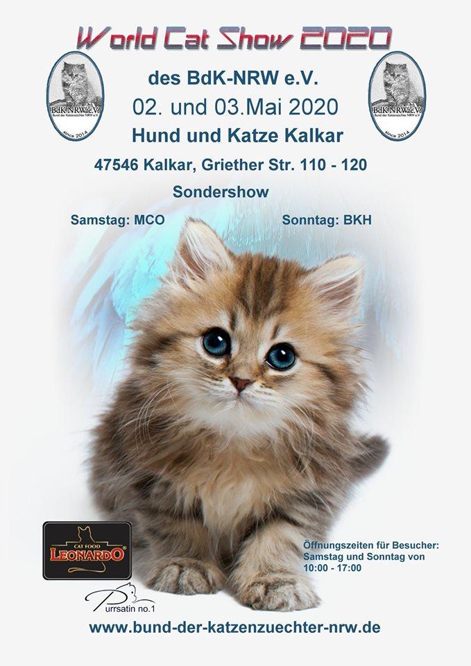 World Cat Show 2020 - VERSCHOBEN!