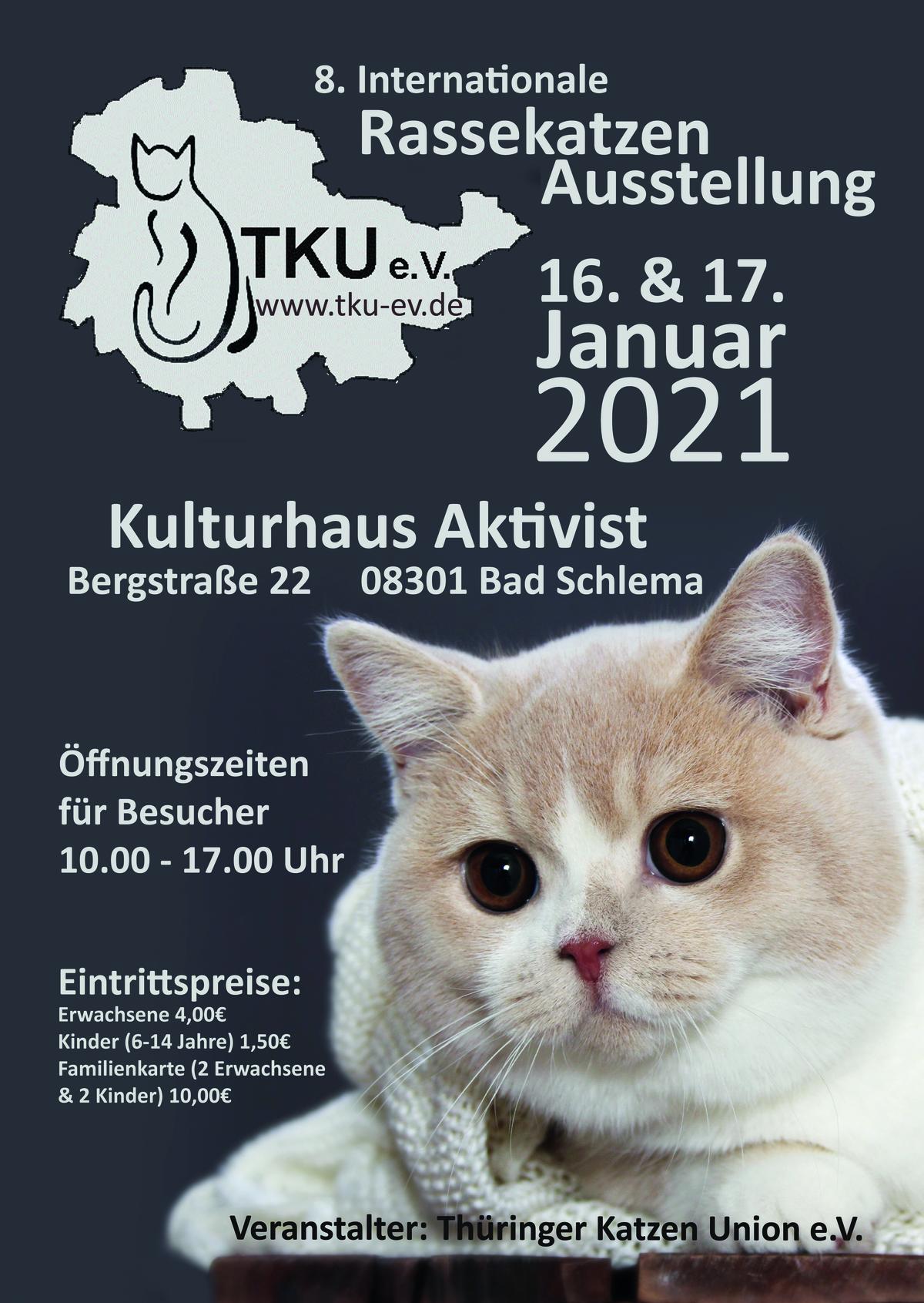 8. Internationale Rassekatzen Ausstellung - ABGESAGT!